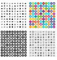 100 startup icons set variant vector image vector image