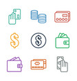 9 pay icons vector image vector image