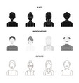 a man with a beard a businesswoman a pigtail vector image vector image