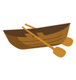 a wooden row boat or color vector image vector image