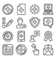 add icons set on white background vector image