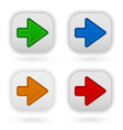 arrow buttons in 4 colors vector image vector image