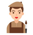 artist icon profession and job vector image vector image