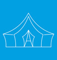 awning tent icon outline style vector image vector image
