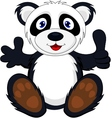 baby panda with thumb up vector image vector image