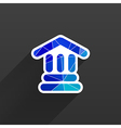 bank icon isolated symbol building vector image vector image