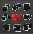blank vintage instant photo frame mockup set vector image vector image