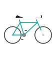 blue bike icon vector image vector image