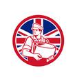 british artisan cheese maker union jack flag icon vector image vector image