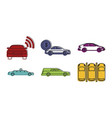 car icon set color outline style vector image vector image