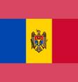 closeup flag moldova vector image