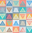 colored triangle seamless pattern with grunge vector image vector image
