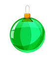 colour christmas green ball isolated on white vector image vector image