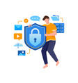 concept data security technology vector image vector image