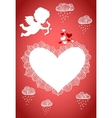 Cupid valentine poster or postcard vector image vector image
