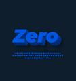 dark blue 3d text effect or font effect design vector image vector image