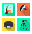 design photoshoot and work symbol set vector image vector image