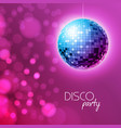 disco ball disco ball pink background vector image