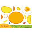 education paper game for children fish vector image vector image