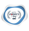 fathers day lettering banner vector image