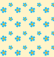 forget-me-not seamless pattern vector image vector image
