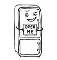 fridge is a temptor vector image vector image