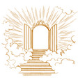gates of paradise entrance to the heavenly city vector image vector image