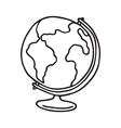 Globe icon Outlined vector image vector image