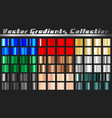 gradient square set vector image vector image