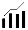 growth chart the black color icon vector image vector image