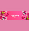 happy mothers day banner of pink gifts and hearts vector image vector image