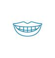 healthy smile linear icon concept healthy smile vector image vector image