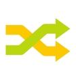 Intersecting arrows icon vector image vector image