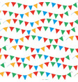kids carnival seamless pattern with bunting vector image vector image