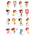 kids sport decorative icons set vector image