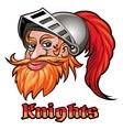 Knight in a Helmet Emblem vector image vector image