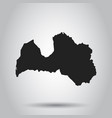latvia map black icon on white background vector image vector image