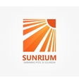 logo symbol for travel or solarium vector image vector image