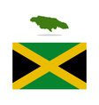 map Jamaica vector image