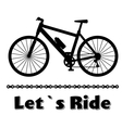 Minimalistic bike poster Let s Ride Black vector image vector image