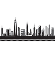 New York City silhouette by day vector image