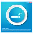 no smoking road sign abstract blue web sticker vector image