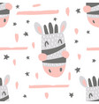 nursery zebra pattern vector image vector image