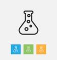 of teach symbol on flask vector image
