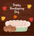 pie apple of thanksgiving day vector image vector image