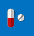 pills icon flat isolated sign vector image vector image