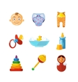 pistures of Toys icons set isolate on white vector image vector image