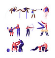 professional sport activities set male and female vector image
