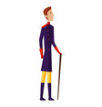 renaissance clothing man character in vector image