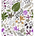 seamless floral pattern in vector image vector image